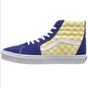 Yellow & blue Checkered vans🤮🔥